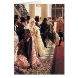 The fashionable woman by James Tissot Card