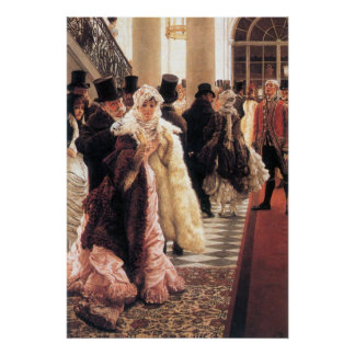 The fashionable woman by James Tissot Poster