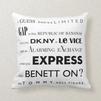 The Fashionist PILLOW