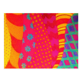 THE FASHIONISTA - Bright Vibrant Abstract Waves Postcard