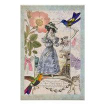 The Fashions of Paris Vintage Girly Wall Decor Poster