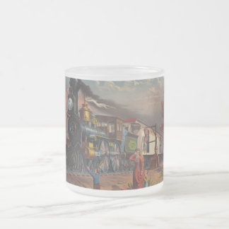 The Fast Mail Postal Service Train From 1875 10 Oz Frosted Glass Coffee Mug