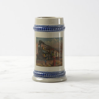 The Fast Mail Postal Service Train From 1875 18 Oz Beer Stein