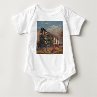 The Fast Mail Postal Service Train From 1875 Baby Bodysuit