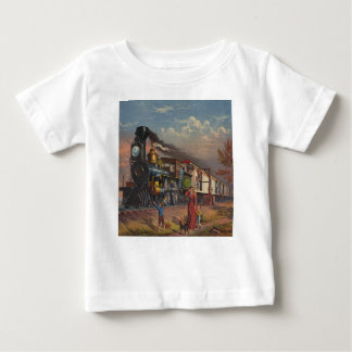 The Fast Mail Postal Service Train From 1875 Baby T-Shirt