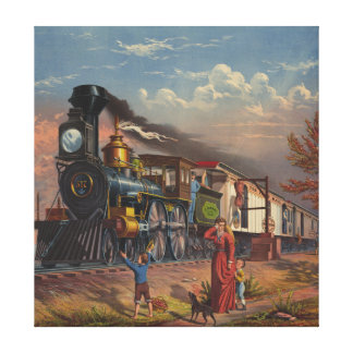 The Fast Mail Postal Service Train From 1875 Canvas Print