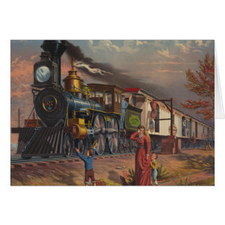 The Fast Mail Postal Service Train From 1875 Greeting Card