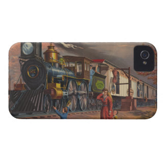 The Fast Mail Postal Service Train From 1875 Case-Mate iPhone 4 Case