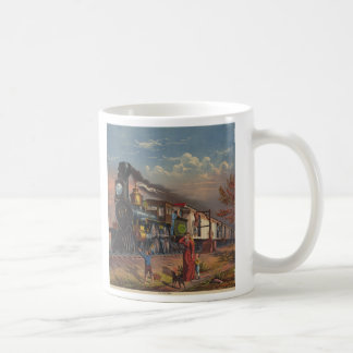 The Fast Mail Postal Service Train From 1875 Classic White Coffee Mug