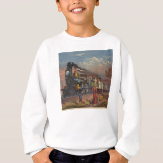 The Fast Mail Postal Service Train From 1875 Sweatshirt