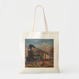 The Fast Mail Postal Service Train From 1875 Tote Bag