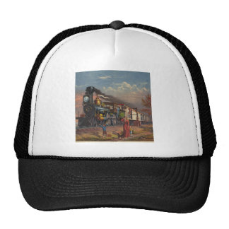 The Fast Mail Postal Service Train From 1875 Trucker Hat