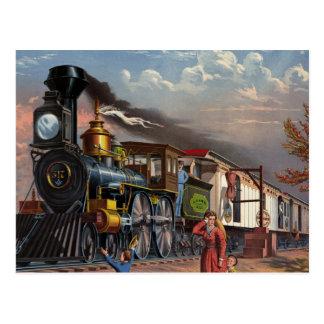 The Fast Mail Train Postcard
