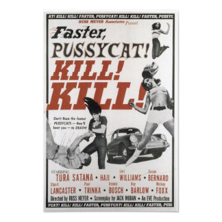 THE FASTER PUSSYCAT VINTAGE MOVIE POSTER PHOTO ART