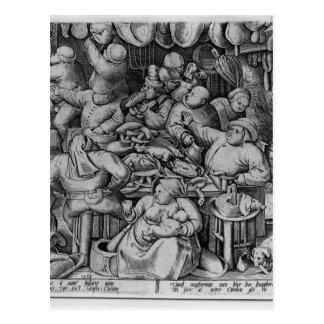 The Fat Kitchen by Pieter Bruegel the Elder Postcard