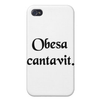 The fat lady has sung. iPhone 4 cover