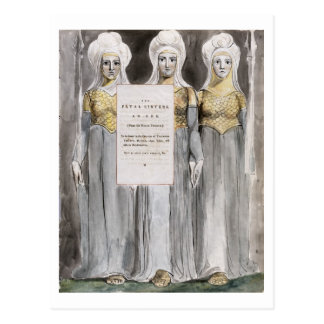 The Fatal Sisters, design 67 from 'The Poems of Th Postcard