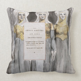 The Fatal Sisters, design 67 from 'The Poems of Th Throw Pillow
