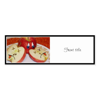 The Fate of a Juicy Apple Business Card Templates