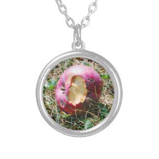 The Fateful Bite Round Pendant Necklace