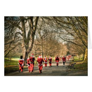 The Father Christmas 10km run in Greenwich, London Card