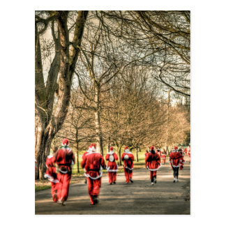 The Father Christmas 10km run in Greenwich, London Postcard