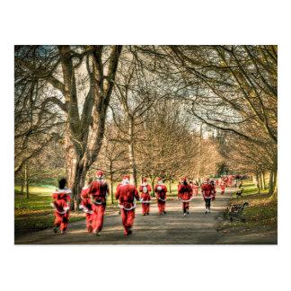 The Father Christmas 10km run in Greenwich, London Postcard