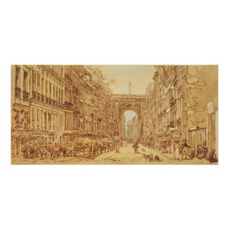 The Faubourg and the Porte Saint-Denis, 1801 Poster