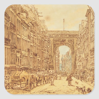 The Faubourg and the Porte Saint-Denis, 1801 Square Sticker