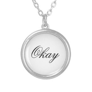 """The Fault in Our Stars """"Okay"""" Necklace. Round Pendant Necklace"""