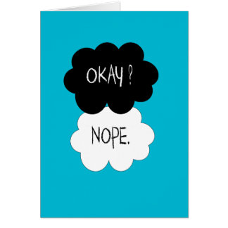 The Fault In Our Stars Okay Parody Card