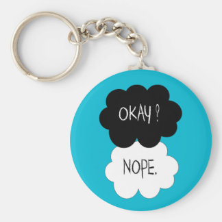 The Fault In Our Stars Okay Parody Keychain