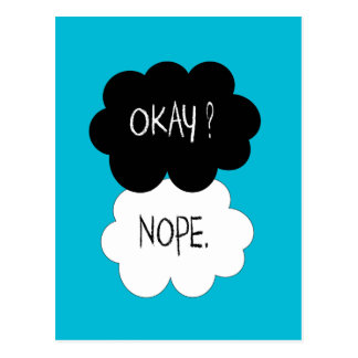The Fault In Our Stars Okay Parody Postcard