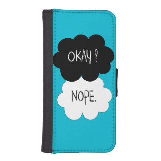 The Fault In Our Stars Okay Parody Wallet Phone Case For iPhone SE/5/5s