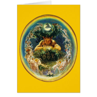 The Faun and the Fairies Greeting Card