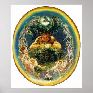 The Faun and the Fairies Print by Daniel Maclise