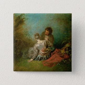 The Faux Pas, c.1717 (oil on canvas) Button