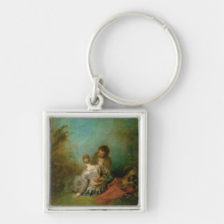 The Faux Pas, c.1717 (oil on canvas) Keychain