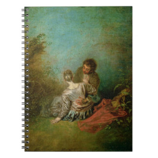 The Faux Pas, c.1717 (oil on canvas) Spiral Notebook