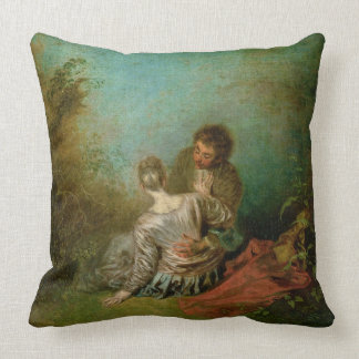 The Faux Pas, c.1717 (oil on canvas) Throw Pillow