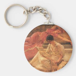 The Favorite Poet Lawrence Alma-Tadema 1888 Keychain