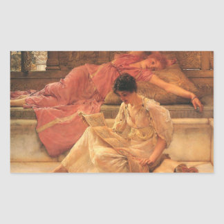 The Favorite Poet Lawrence Alma-Tadema 1888 Rectangular Sticker