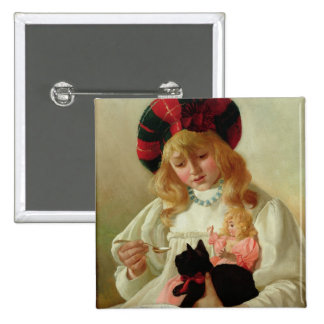 The Favourites, 1895 (oil on canvas) Pinback Button
