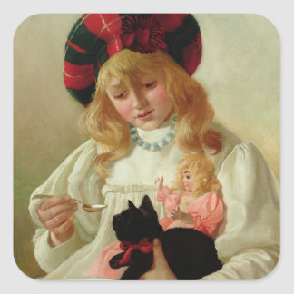 The Favourites, 1895 (oil on canvas) Square Sticker