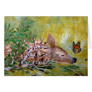 The Fawn and the Butterfly Blank Card