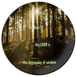 The Fear Of The Lord Dinner Plate
