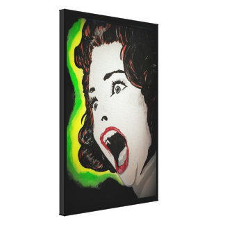 'The Fear' Stretched Canvas Print