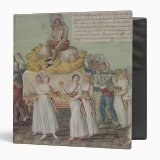The Feast of Agriculture in 1796 at Paris 3 Ring Binder