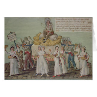 The Feast of Agriculture in 1796 at Paris Card