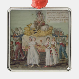 The Feast of Agriculture in 1796 at Paris Metal Ornament